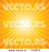 Vector of a Bright Sun Rays in Orange Background by Pushkin