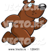 Vector of a Cartoon Bear Mascot on the Run by Cory Thoman