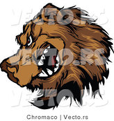 Vector of a Cartoon Brown Bear Growling by Chromaco