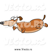 Vector of a Cartoon Fat Wiener Dog by Toonaday