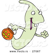 Vector of a Cartoon Ghoul Trick-or-Treating on Halloween by Toonaday