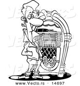 Stereo Cd Player Jukebox Phonograph Record Sketch Coloring Page ...   175x164