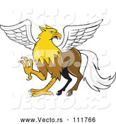 Vector of a Cartoon Hippogriff Mythical Creature Mascot by Patrimonio