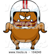 Vector of a Cartoon Mad Football Turkey Character by Cory Thoman