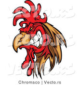 Vector of a Cartoon Rooster Mascot Gritting Teeth by Chromaco