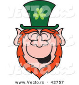 Vector of a Cartoon St. Paddy's Day Leprechaun Laughing by Zooco