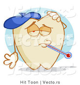 Vector of a Cartoon Tooth Character with an Ache by Hit Toon