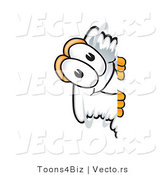 Vector of a Cartoon Tornado Mascot Peeking Around a Corner by Toons4Biz