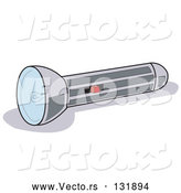 Vector of a Chrome Flashlight by Andy Nortnik