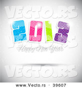 Vector of a Colorful 2013 with Happy New Year Greeting Background by KJ Pargeter