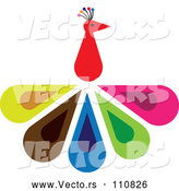 Vector of a Colorful Peacock Bird Concept by ColorMagic