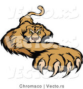 Vector of a Competitive Cougar Preparing to Attack with Claws out by Chromaco