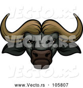 Vector of a Confident Wild Water Buffalo Mascot by Vector Tradition SM