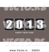 Vector of a Countdown Ticker 2013 on Gray with Happy New Year by Michaeltravers