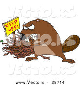 March 16th, 2016: Vector of a Defensive Beaver Guarding His Stick Pile by Toonaday