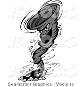 Vector of a Destructive Cartoon Tornado Character by Vector Tradition SM