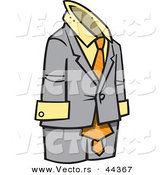 Vector of a Empty Male Business Suit by Toonaday