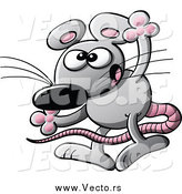 Vector of a Exaggerating Mouse Gesturing with His Hands by Zooco