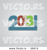 Vector of a Fabric Designed 2013 over Gray Background by Vectorace