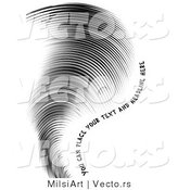Vector of a Finger Print in the Shape of a Tornado - Sample Text Included by MilsiArt
