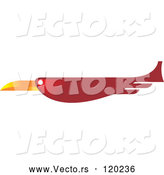 Vector of a Flying Red Bird by Lal Perera
