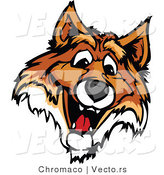 Vector of a Friendly Young Fox Mascot by Chromaco