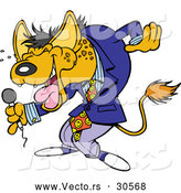 Vector of a Funny Cartoon Hyena Comedian Laughing by Toonaday