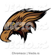 Vector of a Golden Eagle Head by Chromaco