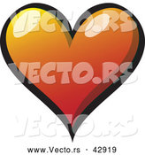 Vector of a Gradient Red Love Heart by Zooco