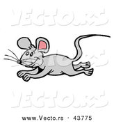 September 30th, 2016: Vector of a Gray Mouse Running and Leaping by LaffToon