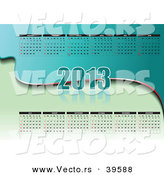 Vector of a Green 2013 Calendar by Leonid
