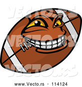 Vector of a Grinning Cartoon American Football Mascot by Vector Tradition SM