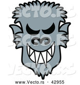 Vector of a Grinning Cartoon Halloween Werewolf by Zooco