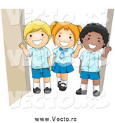 August 3rd, 2015: Vector of a Group of Happy School Kids in Their Uniforms by BNP Design Studio