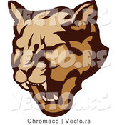 Vector of a Growling Cougar Preparing to Attack by Chromaco