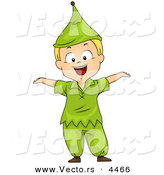 Vector of a Halloween Cartoon Boy Wearing a Dwarf Costume by BNP Design Studio