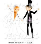April 3rd, 2016: Vector of a Happy Bride and Groom Dancing at Their Wedding by BNP Design Studio