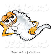 Vector of a Happy Cartoon Tornado Mascot Resting by Toons4Biz