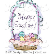 Vector of a Happy Easter Gift Basket by BNP Design Studio