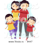 December 6th, 2015: Vector of a Happy Family Walking Together and Wearing Matching Outfits by BNP Design Studio