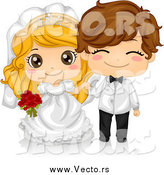 Vector of a Happy Kid Wedding Couple by BNP Design Studio