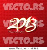 Vector of a Happy New Year 2013 Greetings Design over Red Background by KJ Pargeter