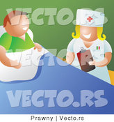 Vector of a Happy Nurse Talking with Patient in a Hospital Room by Prawny