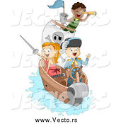 May 3rd, 2015: Vector of a Happy Pirate Children on a Ship by BNP Design Studio