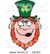 Vector of a Happy St. Paddy's Day Cartoon Leprechaun by Zooco