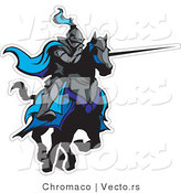 Vector of a Jousting Knight with Lance Extended Ready to Strike Opponent by Chromaco