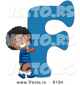 August 25th, 2017: Vector of a Kid Beside Alphabet Letter F by BNP Design Studio