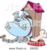 Vector of a Killer Dog Chained to House by Toonaday