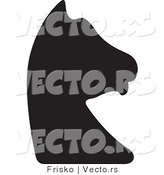 Vector of a Knight Chess Piece Silhouette by Frisko