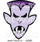 Vector of a Mad Cartoon Halloween Vampire by Zooco